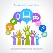 Geração de mídias sociais