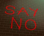 Say No Concept.