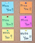 Sticky Note Collage With Miss You