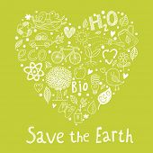 foto of save earth  - Save the earth - JPG