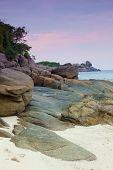 Rising tide on a sand beach Similian Islands Thailand