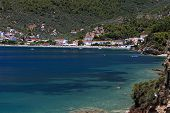 pic of ammo  - Megali Ammos beach at Skiathos island in Greece - JPG