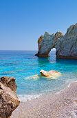 Lalaria beach at Skiathos, Greece
