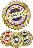 Set Of Four Colorful Emblem Seals