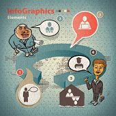Set Of Elements For Infographics With Two Businessmen