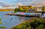 view on Portree before sunset, Isle of Skye, Scotland