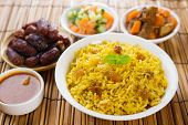 Arab rice, Ramadan food in middle east usually served with tandoor lamb. Middle eastern food.