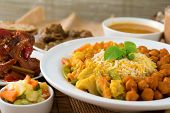 stock photo of nasi  - Biryani rice or pilau rice with curry - JPG