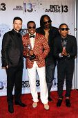 LOS ANGELES - JUN 30: Justin Timberlake, Charlie Wilson, Snoop Dogg, Pharrell Williams at the 2013 B