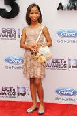 LOS ANGELES - JUN 30: Quvenzhane Wallis at the 2013 BET Awards at Nokia Theater L.A. Live on June 30