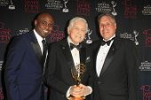 BEVERLY HILLS - JUN 16: Wayne Brady, Monty Hall, Malachy Wienges with The Lifetime Achievement Award
