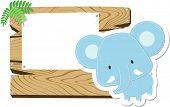 baby elephant signboard