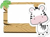 baby zebra blank sign board