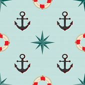 Seamless texture. The maritime theme.