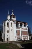 The belfry of and Church of John the Forerunner in the Holy Efimiev Monastery. Russia, Suzdal