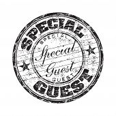Special guest rubber stamp