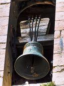 Постер, плакат: Старая колокольня символ фото для религия духовность verrmarktung