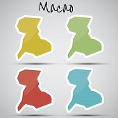 stickers in form of Macao / Macau