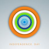 Creative Indian Independence Day background.