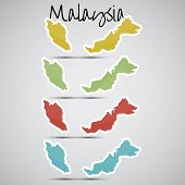 stickers in form of Malaysia