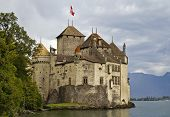 Chateau De Chillon On Lake Geneva