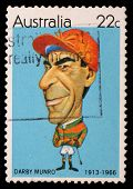 AUSTRALIA - CIRCA 1981: A stamp printed in Australia shows Australian sportsmen (Caricatures by Tony