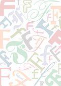 Typo F Pastell