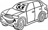 Suv Car Cartoon Coloring Page