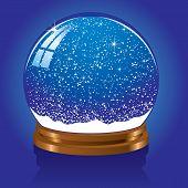 Snow globe with stars
