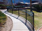 Curved Railing On A Walkway