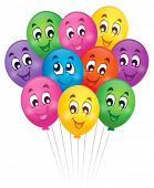Balloons theme image 5 - eps10 vector illustration.