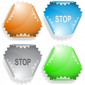Stop. Raster sticker. Vector version is in my portfolio.