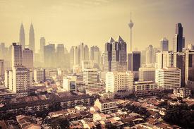 image of klcc  - Urban landscape of Kuala Lumpur - JPG
