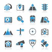Map, navigation and Location Icons
