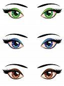 Cartoon Female Eyes