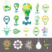 stock photo of bubble sheet  - biggest collection of vector icons lamps - JPG