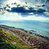 Rocky Coast Of North Sea,  France