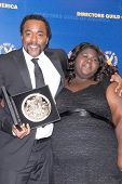 Lee Daniels and Gabourey Sidibe at the 62nd Annual DGA Awards - Press Room, Hyatt Regency Century Plaza Hotel, Century City, CA. 01-30-10