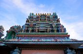 The Roof Of A Hindu Temple
