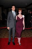 Geoffrey Arend and Christina Hendricks at the 62nd Annual DGA Awards - Arrivals, Hyatt Regency Century Plaza Hotel, Century City, CA. 01-30-10