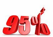 Up 95 percent