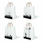 Bag With Recession And Work Sign Vector