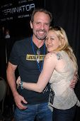 Michael Biehn and Jennifer Blanc-Biehn at the Hollywood Collectors Show, Burbank Airport Marriott Hotel & Convention Center, Burbank, CA. 02-13-10