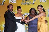 Lee Daniels, Mo'Nique, Gabourey Sidibe and Paula Patton at the 41st NAACP Image Awards - Press Room, Shrine Auditorium, Los Angeles, CA. 02-26-2010