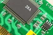 The Microprocessor On The Electronic Board.