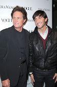 Bruce Jenner and Evan Lysacek at a Vogue Dinner Honoring Vera Wang, Vera Wang Store, Los Angeles, CA. 03-02-10