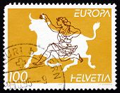 Postage Stamp Switzerland 1995 Abducting Europa, Greek Myth