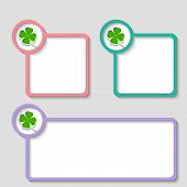 Colored Frame For Any Text With Cloverleaf