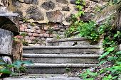 dilapidated staircase