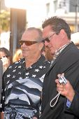 Jack Nicholson and Michael Madsen  at the Hollywood Walk of Fame induction ceremony for Dennis Hopper, Hollywood Blvd., Hollywood, CA. 03-26-10